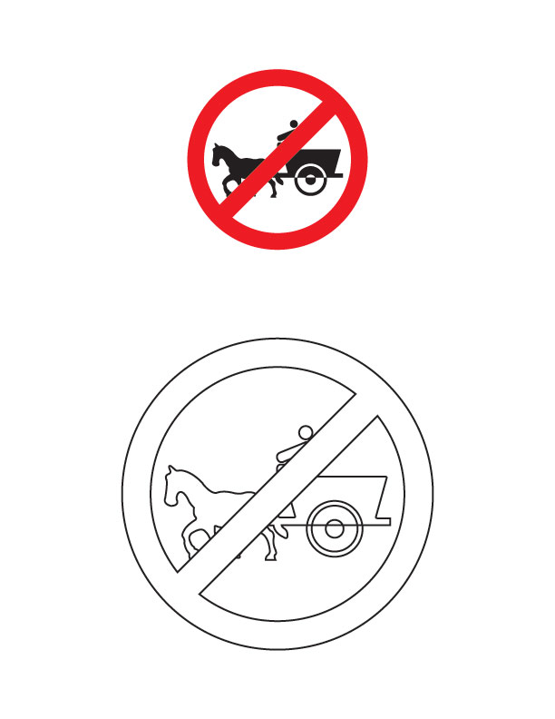 colouring pages for road signs tonga prohibited traffic sign coloring page download free