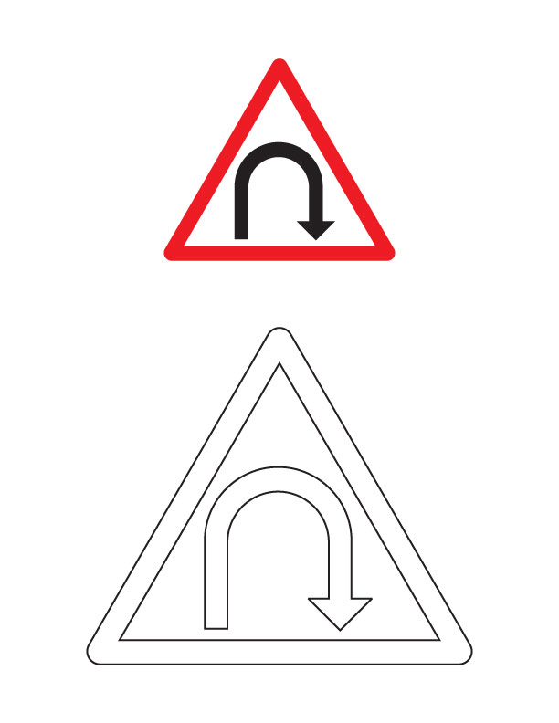 Beautiful Road Sign Coloring Pages Ideas  Images for coloring