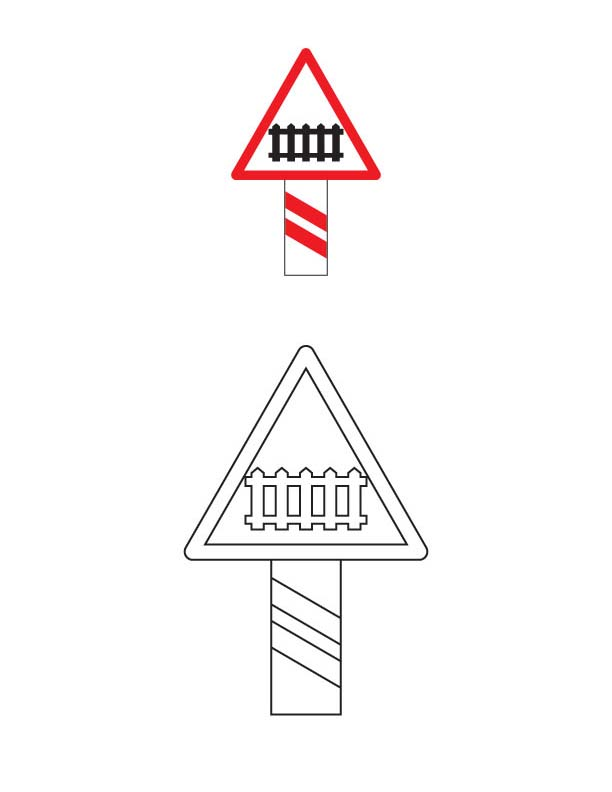Free road signs coloring pages
