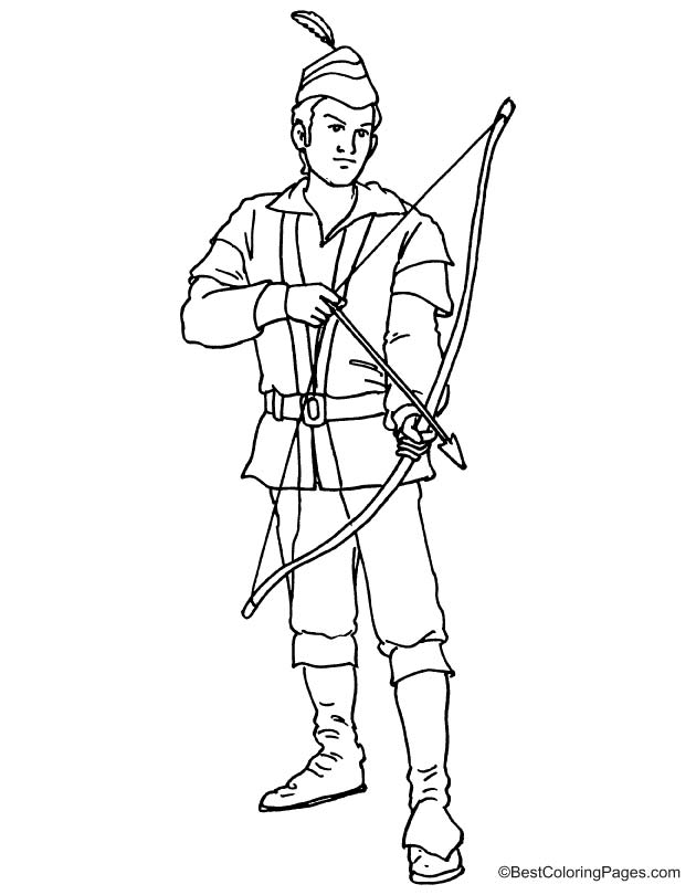 Robin Hood Coloring Pages 4 Pictures To Pin On Pinterest