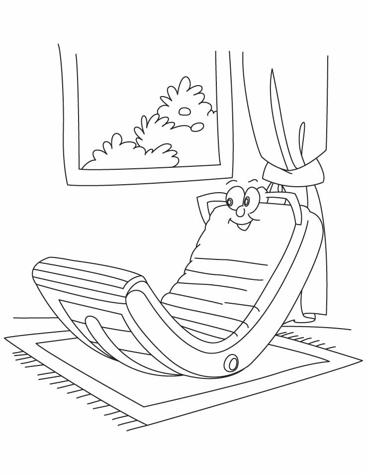 Rocking chair coloring pages