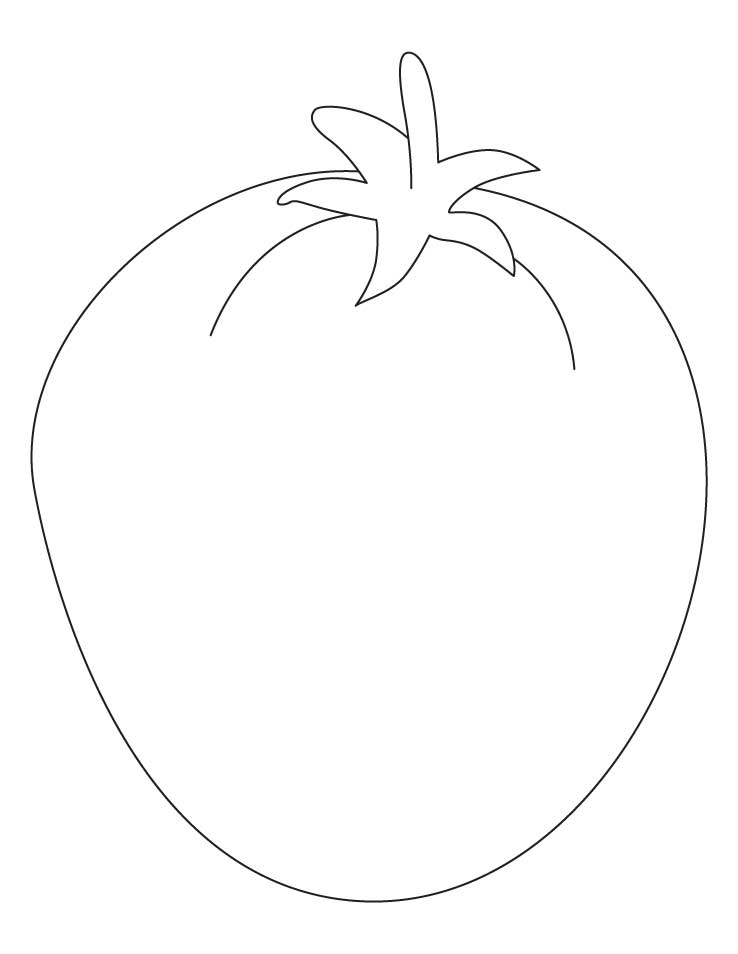 coloring pages tomatoes - photo#24