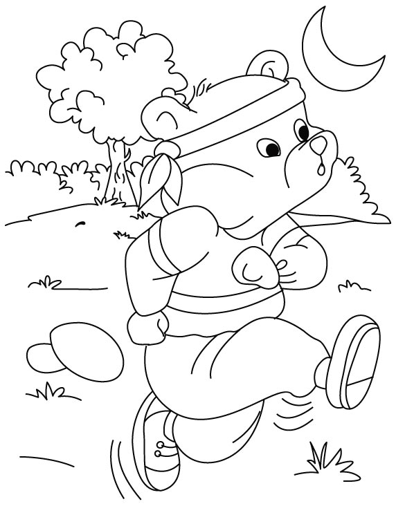 running a race coloring pages - photo#18