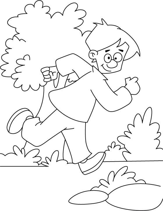 running a race coloring pages - photo#23