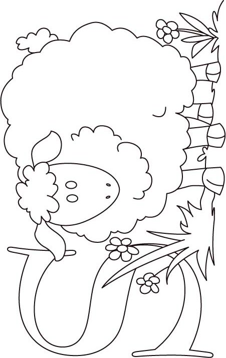S For Sheep Coloring Page Kids