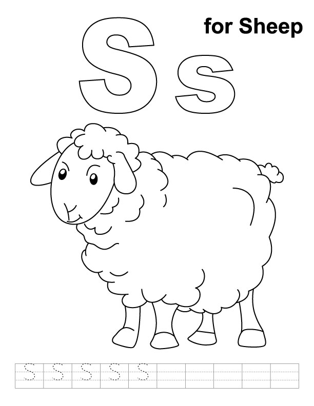 Lamb Coloring Pages For Preschoolers