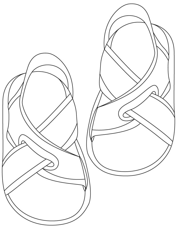 sandals coloring pages Download