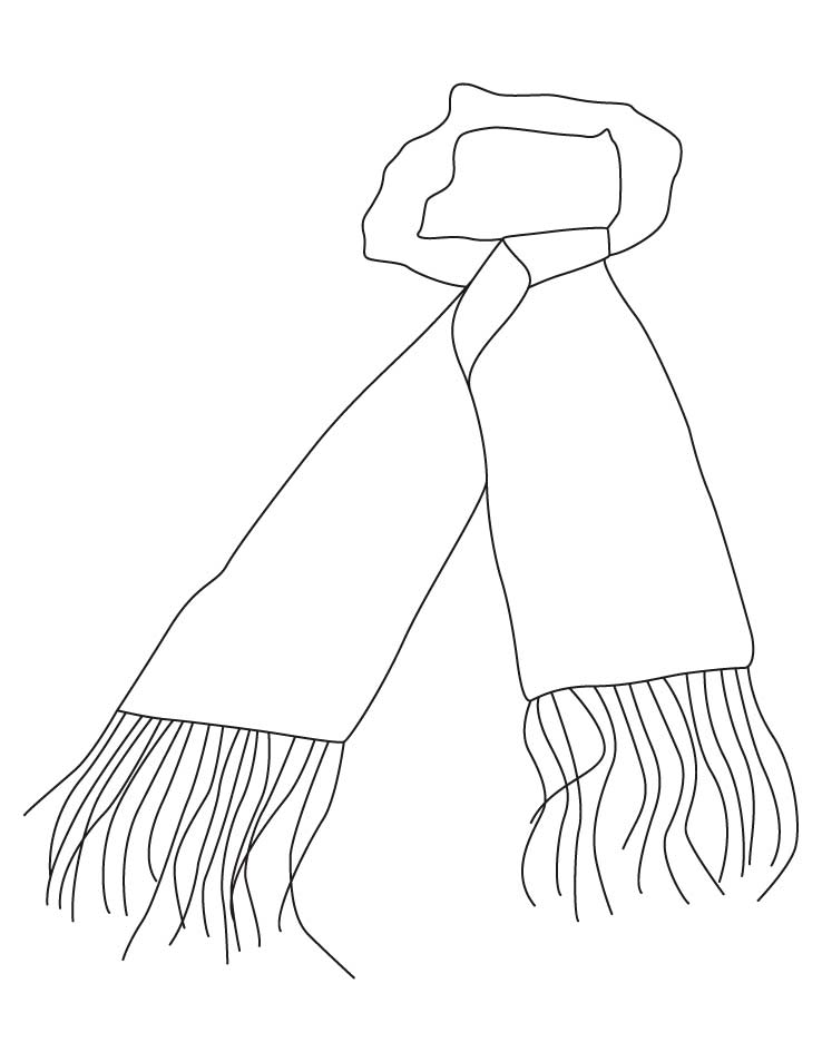 scarf coloring pages download free scarf coloring pages