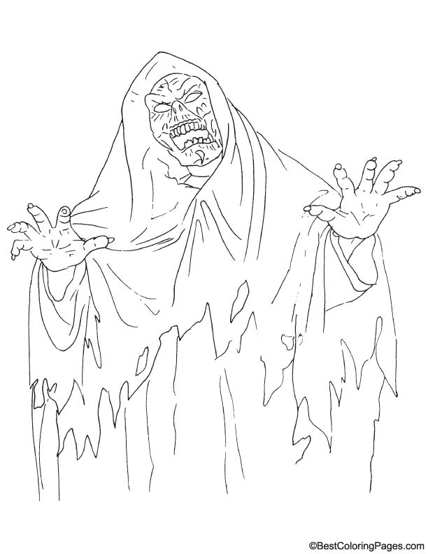 Scary Ghost Coloring Page Download Free Scary Ghost Coloring Page For Kids Best Coloring Pages
