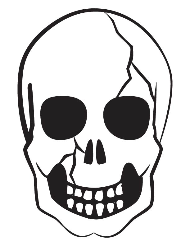 Scary skull coloring pages print