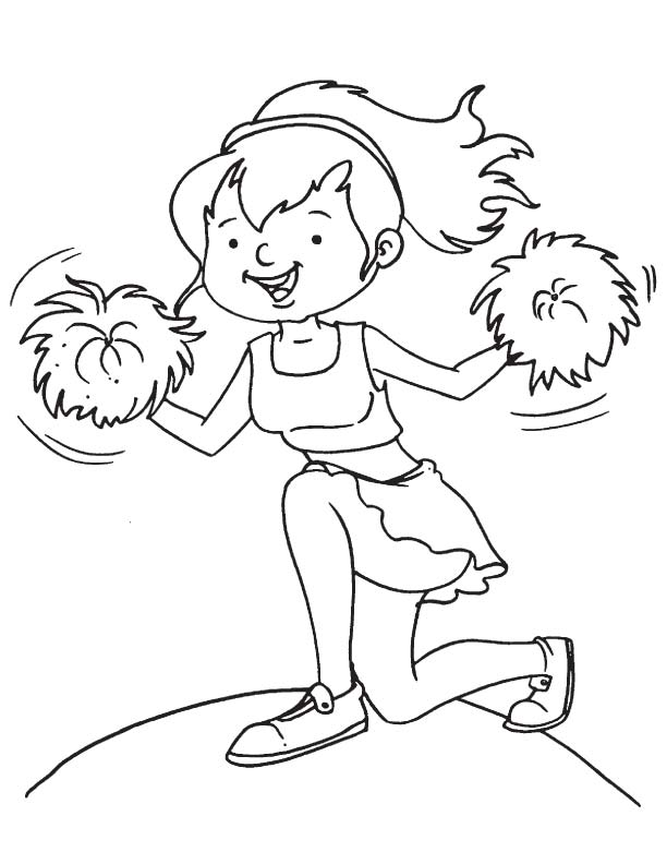 school cheerleader coloring page