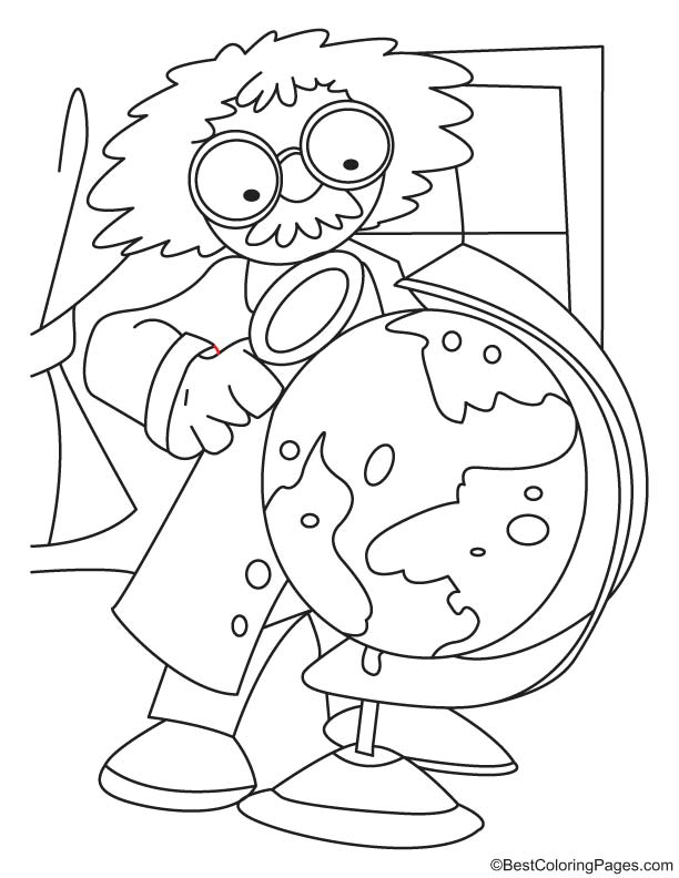 famous scientist coloring pages - photo#7