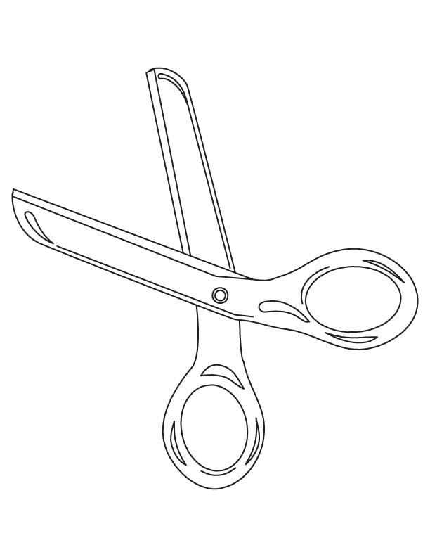 Scissors coloring page Download