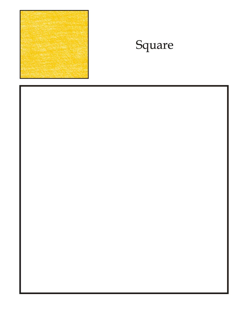 Square Objects Coloring Page