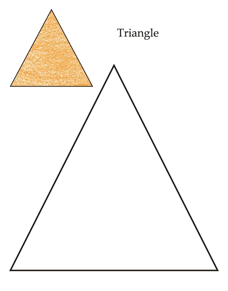 0 level triangle coloring page - Coloring Pages Toddlers Shapes