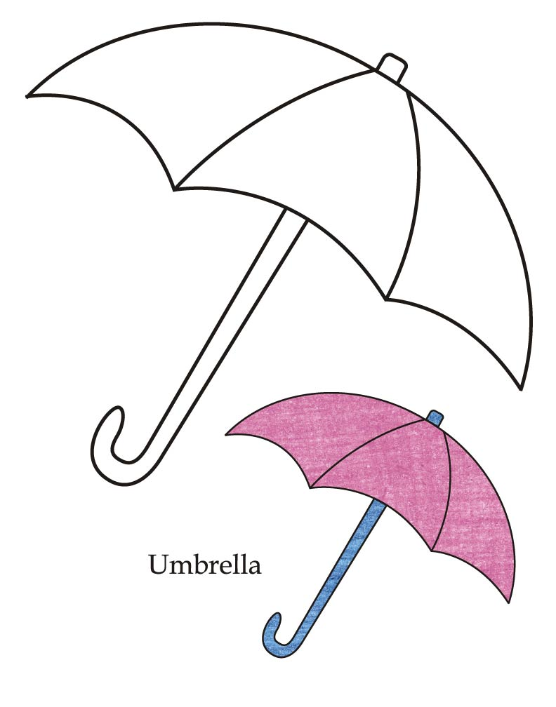 0 Level Umbrella Coloring Page