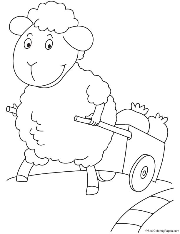 Sheep farmer coloring page