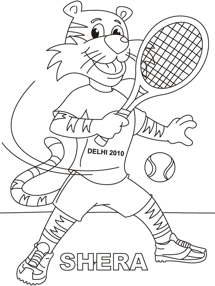 Lawn Tennis Drawing Shera Playing Lawn Tennis