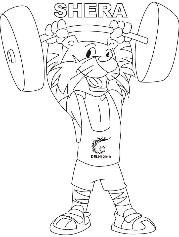 coloring pages weightlifter - photo#7