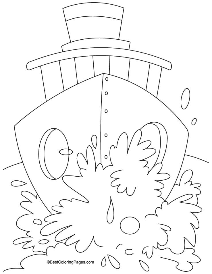 Huge shhip coloring page