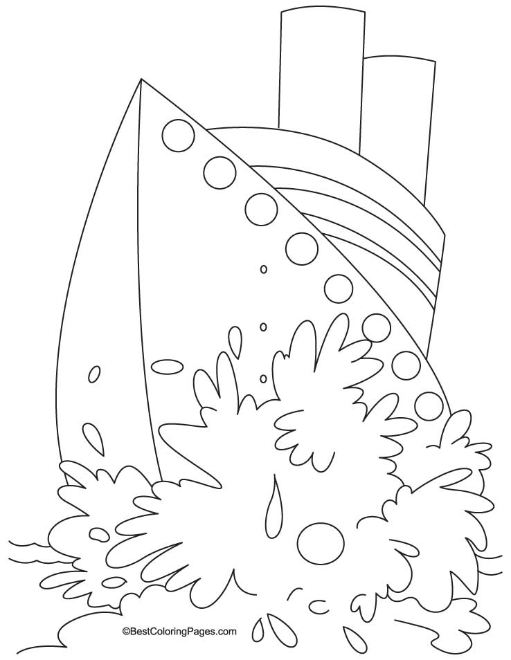 Watercraft coloring page
