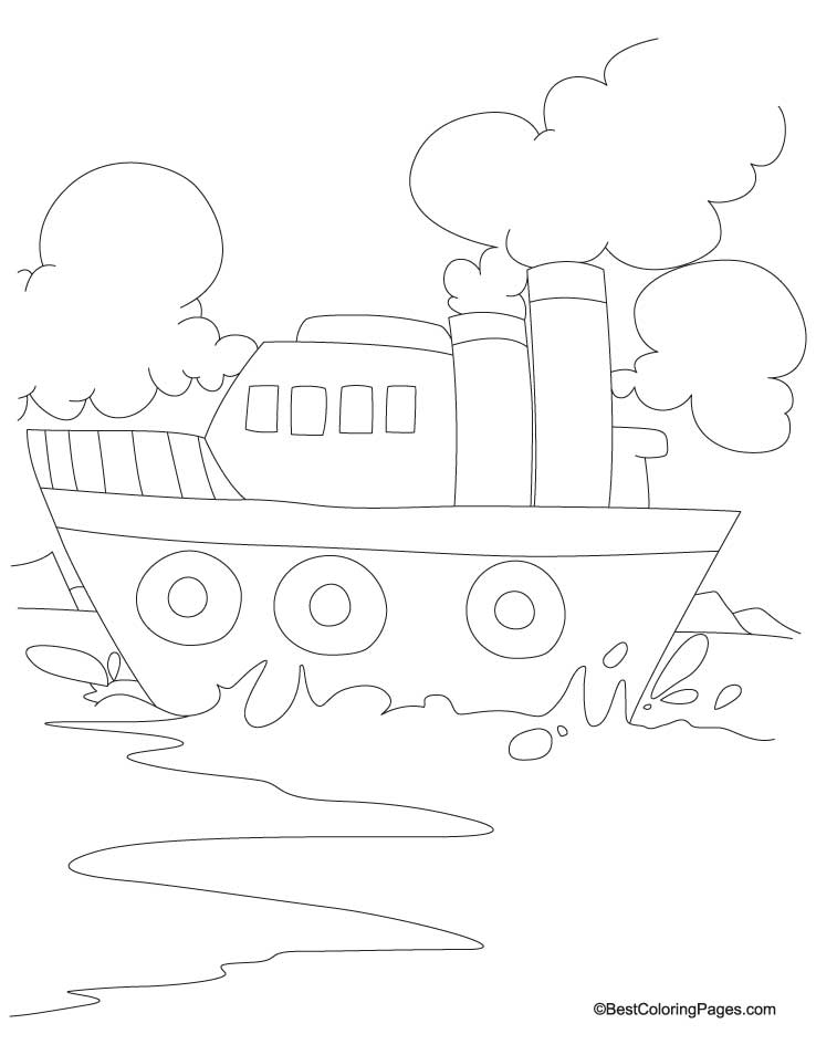 Old ship coloring page