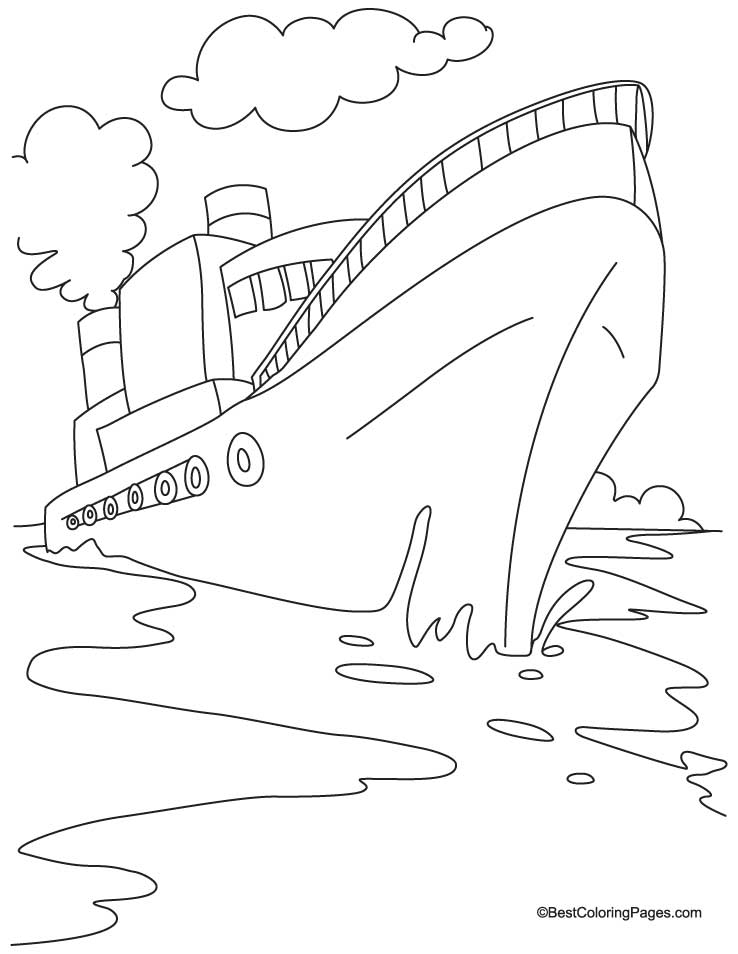 cruise ship coloring pages