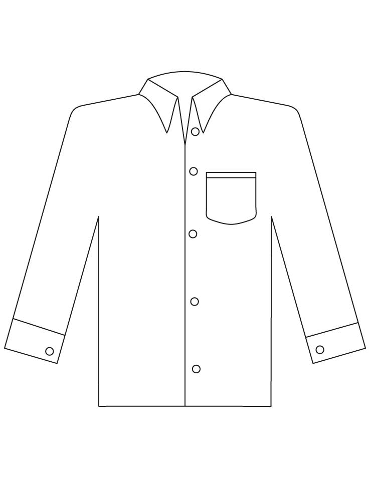 coloring pages shirt - photo#14