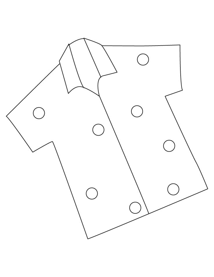 half sleevs shirt coloring pages