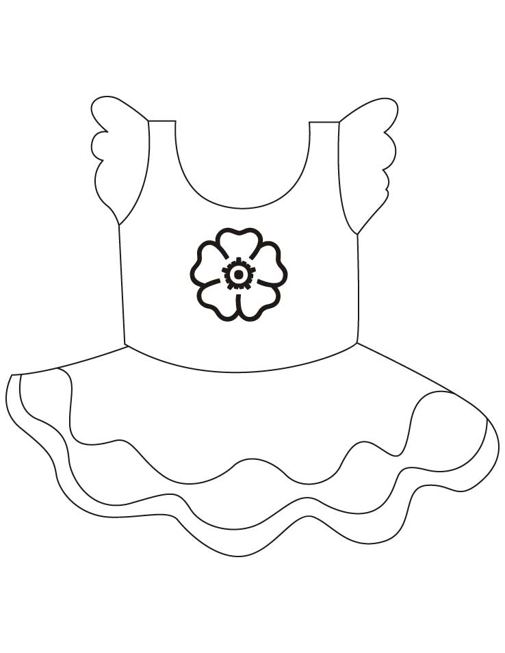 Short frock coloring pages