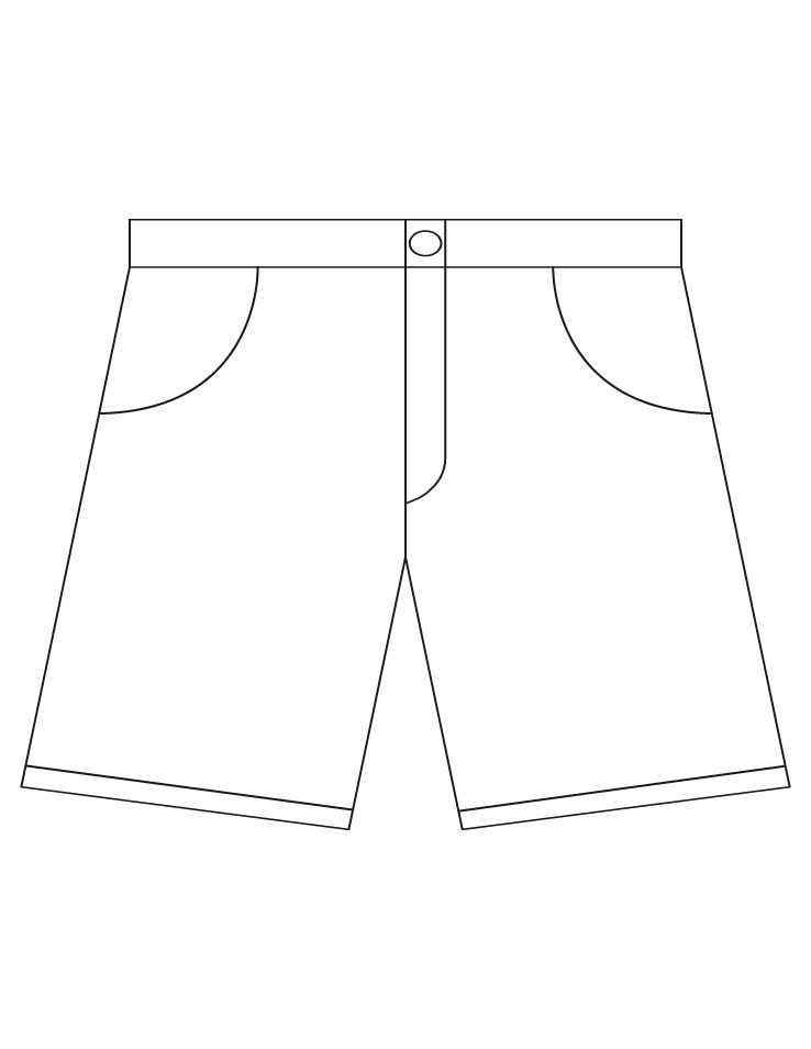 Shorts Coloring Pages Download Free Shorts Coloring