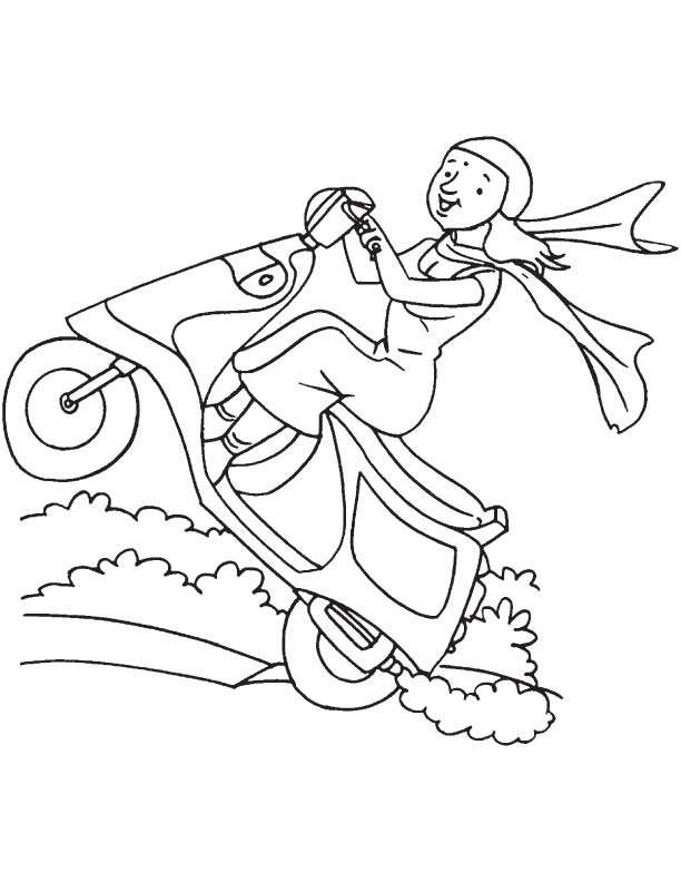stuntman coloring pages - photo#19