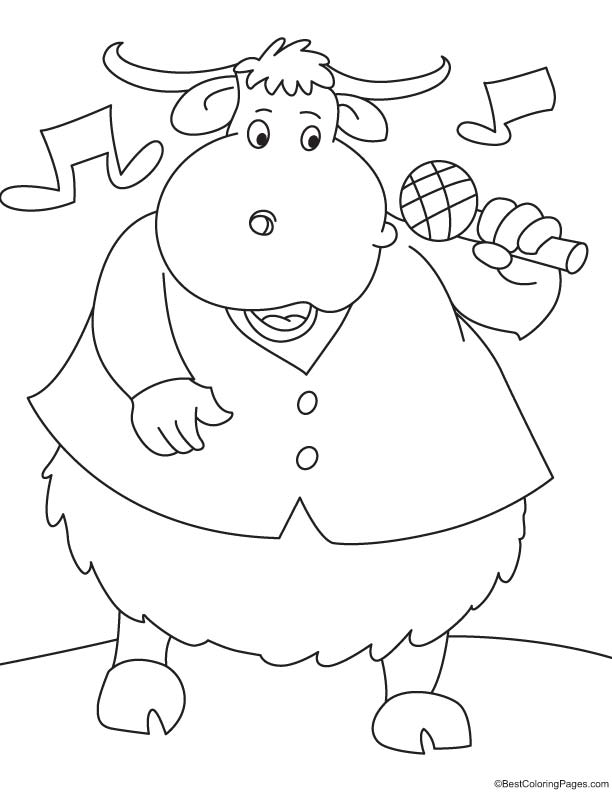 Singer yak coloring page download free singer yak for Singer coloring pages