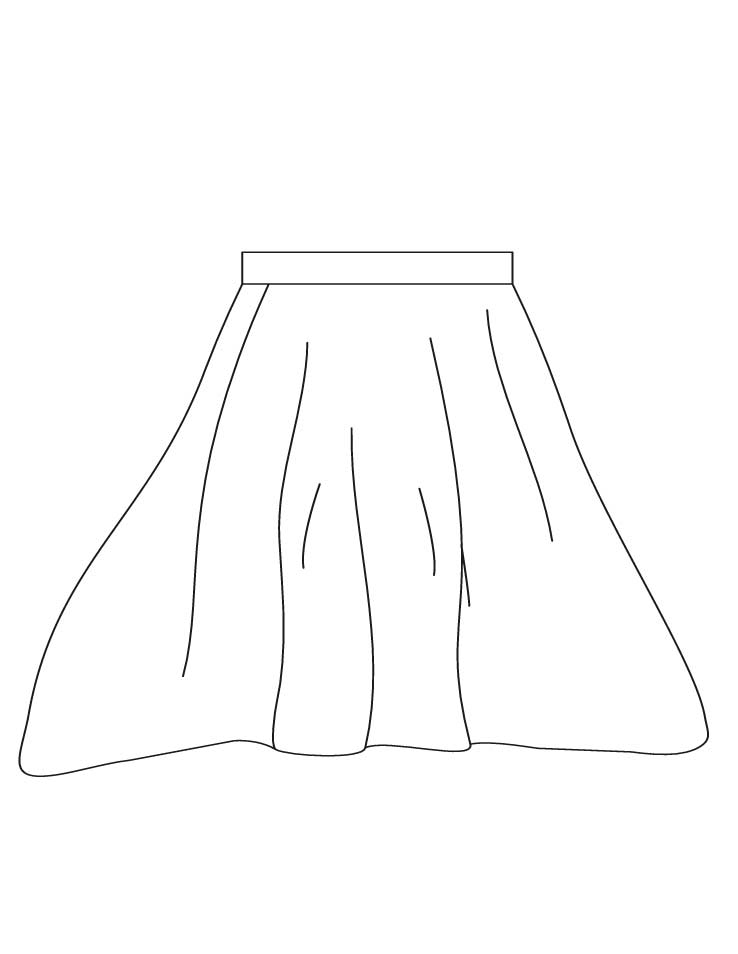 Skirt Coloring Pages 2 | Download Free Skirt Coloring Pages 2 For Kids | Best Coloring Pages