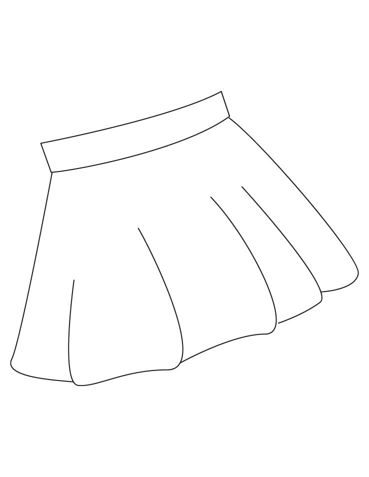 skirt coloring pages 1