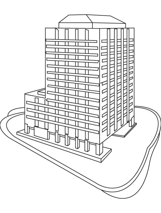 Skyscraper coloring page Download Free Skyscraper coloring page