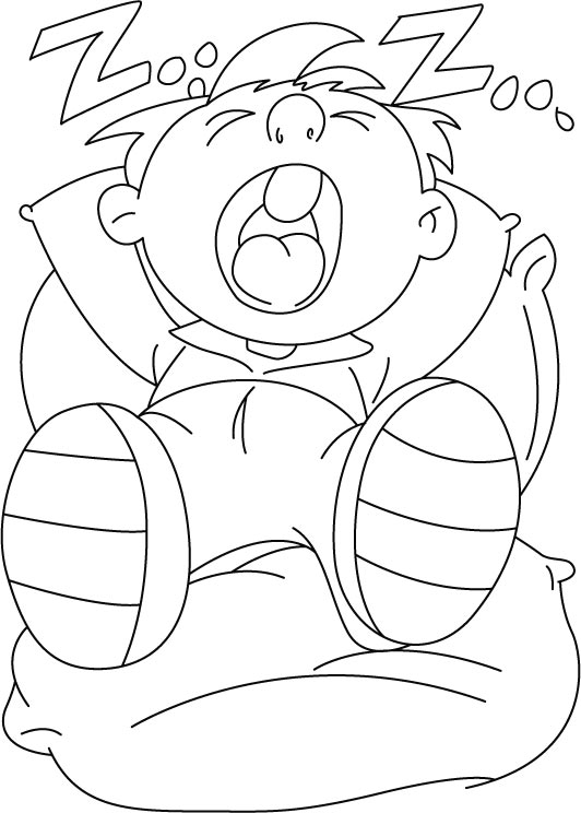 Sleeping Free Coloring Pages Coloring Pages Of Sleeping
