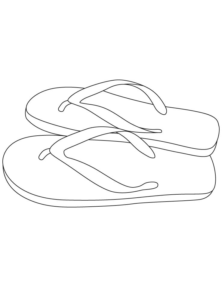 pair of slipper coloring pages coloring pages Cartoon Cinderella Slipper  Cinderella Slipper Coloring Page