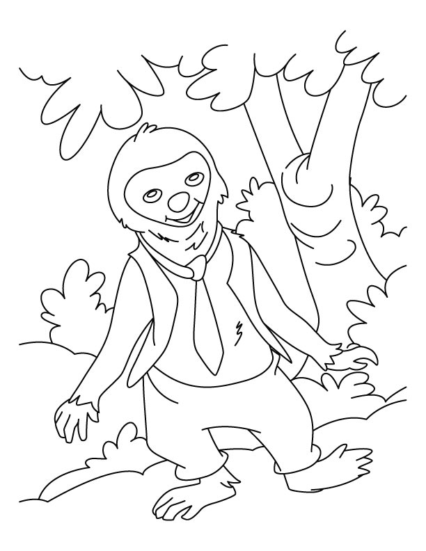 I came down from the tree coloring pages