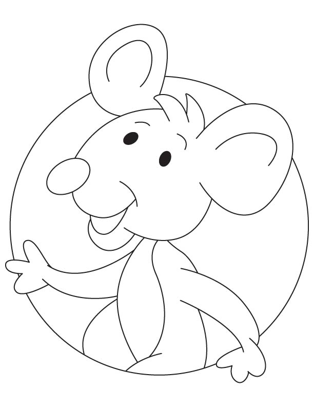 Small rat pinkie coloring page
