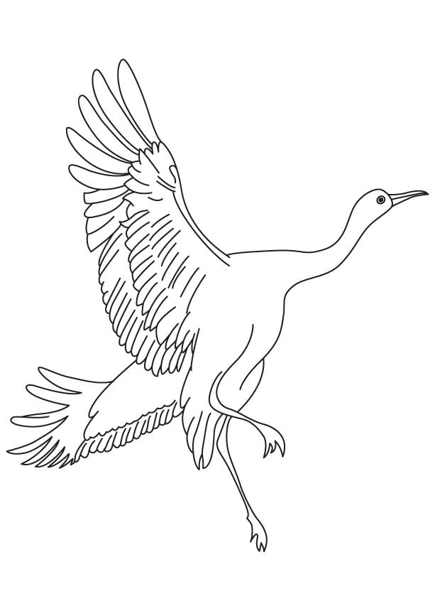 Small rodents eating crane coloring page