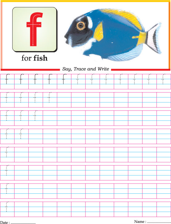 Small letter f practice worksheet Download Free Small
