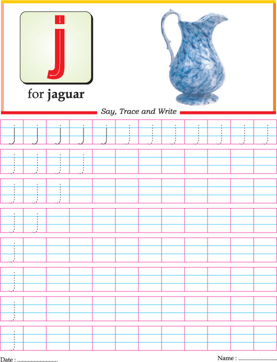 Small letter j practice worksheet Download Free Small