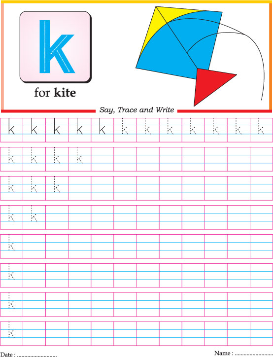 Free Worksheets letter u worksheet : Small letter k practice worksheet : Download Free Small ...