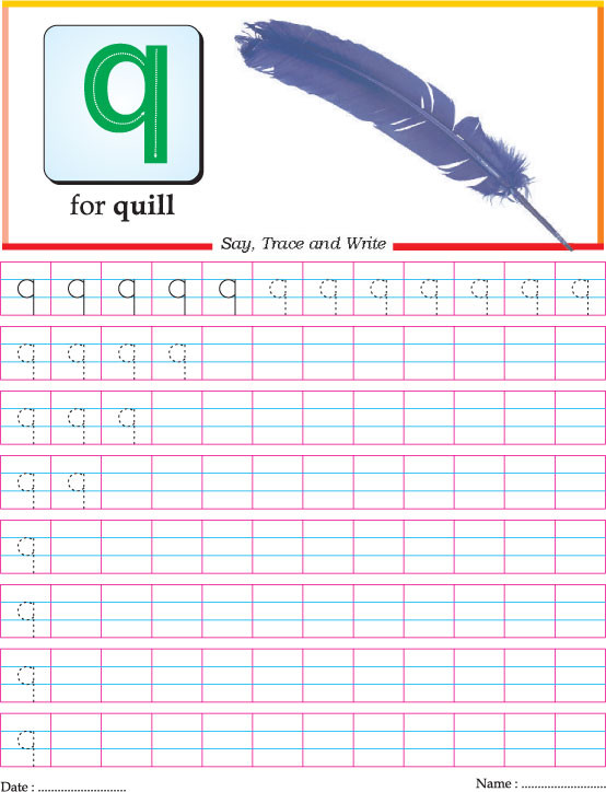 Small Letter Q Practice Worksheet Download Free Small