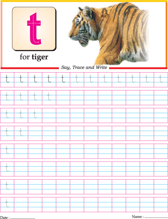 Small letter t practice worksheet | Download Free Small letter t ...