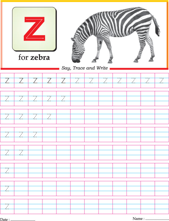 Small letter z practice worksheet Download Free Small