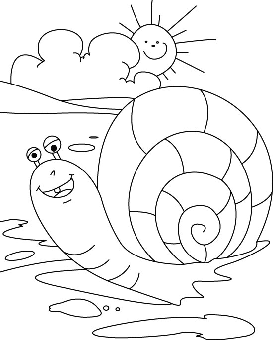 Cute Snail Coloring Pages Coloring Pages