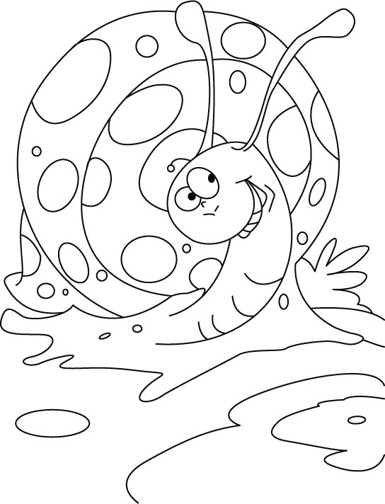 High spirited snail coloring pages