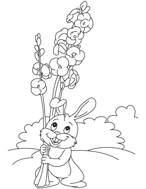 So long flower coloring page